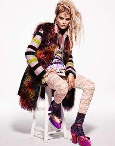 High fashion grunge editorial