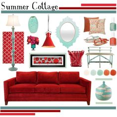 Summer Cottage, created by lisajean1957 on Polyvore