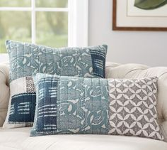 Malibu Patchwork Lumbar Pillow Covers | Pottery Barn