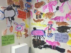 Mrs Wishy Washy favourite animal painting