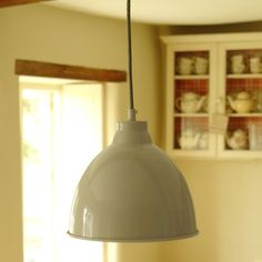 Kitchen Pendants - The Harrow Pendant Light in Clay is a Pleasingly Bulbous Shaped Pendant Light, Which will Spread a Warm Glow Over Your Dining or Kitchen Table. Garden Trading