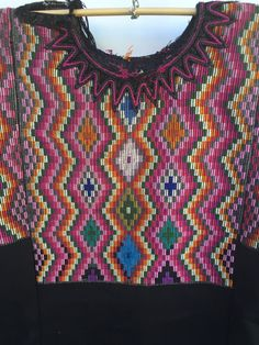 Guatemalan Handmade Authentic Vintage Huipil de Chichicastenango by TheMayanMarket Guatemalan Art, Russian Embroidery, Handmade Clothes, Costumes, Classic, Design Ideas, Vintage, Random, Color