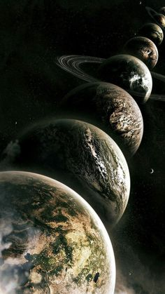 Planets Lined Up – Galaxy Art Space Phone Wallpaper, Wallpaper Earth, Planets Wallpaper, Dark Wallpaper, Screen Wallpaper, Galaxy Wallpaper, Wallpaper Backgrounds, Iphone Wallpaper, Jupiter Wallpaper