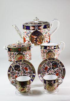 Royal Crown Derby Bird Imari Tea sets Teapot Creamer Sugar bowl 1877 | eBay
