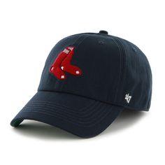 2b21a3cceb2 Boston  RedSox 47 Brand Franchise Fitted  MLB  Baseball Hat Navy Sox Logo  New