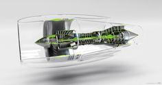 Technical Illustration, 3D Visualization of a Turbine