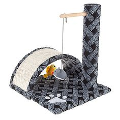 ShopHQ Shopping - PETMAKER All-in-One Cat Scratching Post. Keep your cat active and entertained with the Interactive Cat Scratching Post by PETMAKER. This interactive cat tree features a carpeted base and scratching Black And Gold Marble, Black And Grey, Christmas Rugs, Cat Activity, Neutral Color Scheme, Color Schemes, Cat Scratching Post, Black Carpet, Cat Scratcher