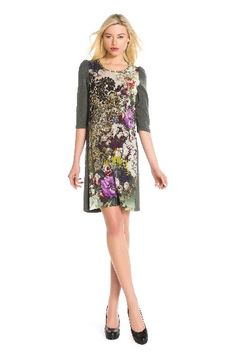 Image 1 - Une robe très confortable en jersey. Robe Gentille couleur vert Derhy