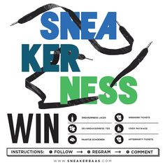 Sneakerbaas will be on Sneakerness Amsterdam NDSM on the 23rd may! That's why we give you the chance to win a Sneakerness VIP treatment with awesome goodies:  Sneakerness & Sneakerbaas Tee 2x Weekend Tickets 2x Tickets Afterparty 1 pair sneakers  1 set of Sneakerness Laces 1 Crepprotect package  What do your need to do? Repost this photo on your Instagram with the following: #sneakernessbaas #baasbovenbaas #sneakerbaas #Sneakerness.  End of the day we randomly pick a winner!!