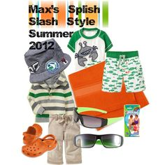 Max's Splish Splash Style, created by #truebluemum on polyvore.com