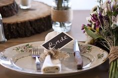 Chalkboard tags/placecards.  That's a lot of work.  Maybe leave them blank, chalk on the table, and let guest write notes themselves.  Leave for bride and groom?