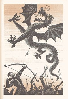 "J.R.R. Tolkien Illustrations | Mikhail Belomlinskiy - J.R.R Tolkien's ""The Hobbit"" Illustrations"