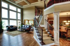 Like stair angle! AND love the open floor plan