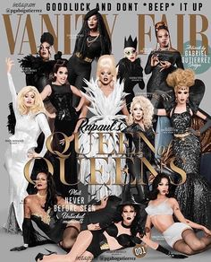 RuPaul, Bebe Zahara Benet, Tyra Sanchez, Raja Gemini, Sharon Needles, Jinkx Monsoon, Bianca Del Rio, Violet Chachki, Bob The Drag Queen, Sasha Velour, Chad Michaels, and Alaska Thunderfuck • RuPaul's Drag Race • Winner of Season 1-9 and All-Stars Season 1-2