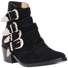 Toga Pulla Black suede ankle boots (28.400 RUB) ❤ liked on Polyvore featuring shoes, boots, ankle booties, ankle boots, black bootie boots, pointy-toe ankle boots, black ankle booties and black suede booties