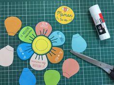 Ma carte à construire pour la fête des mères - Blog Hop'Toys Mothers Day Crafts, Crafts For Kids, Diy Paper, Paper Crafts, Mother's Day Activities, Circle Time, Compliments, Decoupage, Art Projects