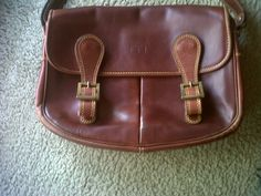 Timberland leather bag with compartments
