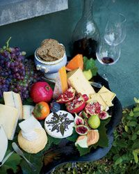A cheese plate at David Tanis's Thanksgiving Dinner