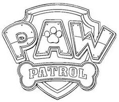 Paw Patrol Chase Coloring Sheets Coloring Page Logo Paw Patrol
