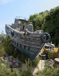 Fishing Boat 1/35 Scale Model Diorama
