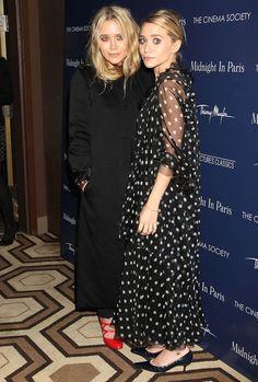"""Ashley et Mary Kate Olsen à la première de """"Midnight in Paris"""" en 2011"""