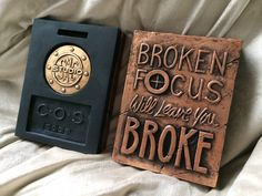 Quotes, sayings, broken focus Wall Decor Quotes, Beautiful Space, Wall Plaques, Create Your Own, Wall Art, Sayings, Handmade, Hand Made, Lyrics