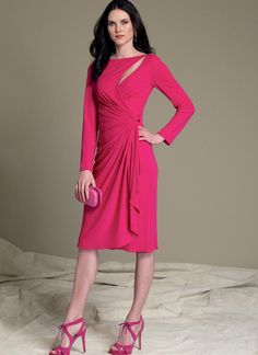 60681539cddd Bellville Sassoon for Vogue Patterns. Mock wrap dress with cutout detail.  V1514 Vogue Sewing
