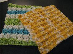 Cotton waffle weave dishcloths.
