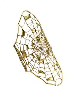 Ayaka Nishi Spider Web Bracelet - I want a very rough, almost uncut diamond set in the center for an engagement ring or tiny little tear shaped diamonds, like dew drops.