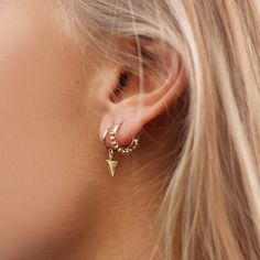 Small Triangle Hoops & Small Round Drop Hoops #Bestseller #Earparty | My Jewellery
