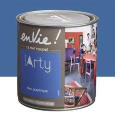 Peinture multisupports Envie Collection Arty LUXENS, bleu graphique, 0.5 L