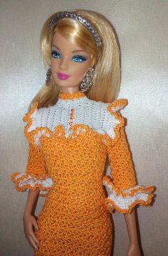 PDF Orange Cloud for Barbie par Crochetfashiondoll sur Etsy