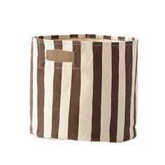 Stripe Storage Bin in Chocolate