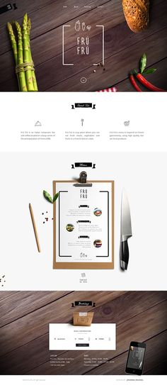 Fun, simple, and elegant foodie website design! Great inspiration for an upcoming Mtn. Dog Media project!