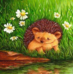 Art for Nursery Sad Hedgehog print from an original acrylic illustration. £6.99, via Etsy.