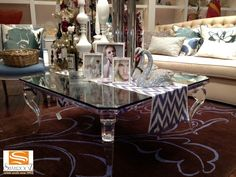 Elegant acrylic coffee table displayed at the Wynn gallery in Las Vegas. Decor, Furniture Design, Table, Furnishings, Acrylic Coffee Table, Modern Furniture, Furniture, Acrylic Furniture, Home Decor