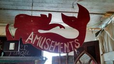 Old amusement park sign from boardwalk