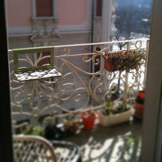 Manuela in Torino Balcony, Table Decorations, Home Decor, Decoration Home, Room Decor, Balconies, Home Interior Design, Dinner Table Decorations, Home Decoration