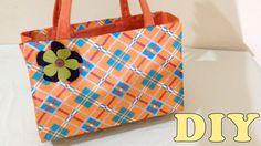 Do Lixo ao Luxo : Bolsa Sacola com Caixa de Leite - DIY Artesanato
