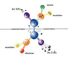 Long-antitop pair decay in delepton channel-Quarks-antimuons-antilop-electrons