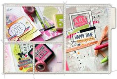 """Version Scrap Paris 2014... zoom sur l'atelier """"Mes Journées en Technicolor"""" Les ateliers-scrap de Manuela"""