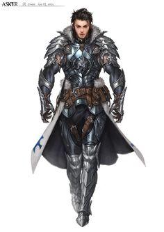 Human Fighter Knight - Pathfinder RPG PFRPG DND D&D d20 fantasy