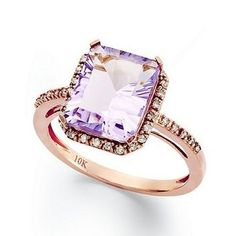 5 Super-Pretty Engagement Rings for February Babies—Or Any Girl Who Likes Purple! (Two Are Less Than $250!) Which Is Your Fave?