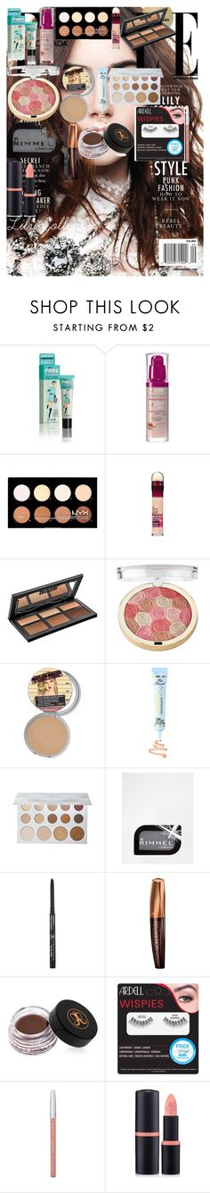 """Lily Collins inspired Makeup Tutorial"" by oroartye-1 on Polyvore featuring beauty, Benefit, Bourjois, NYX, Maybelline, Kat Von D, Milani, Forever 21, Rimmel and Anastasia Beverly Hills"