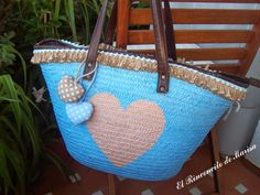 EL RINCONCITO DE MARISA: Cesto de playa reciclado Summer Handbags, Summer Bags, Fundraising Crafts, Beach Basket, Ethnic Bag, Hippie Bags, Straw Bag, Purses And Bags, Creations