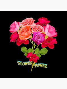 Flower Power Shirt |  Dekokissen mit dem Text Flower Power, im Hintergrund ein Blumenstrauß. DER KLIMAWANDEL IST REALITÄT. WIR MÜSSEN DIE ERDERWÄRMUNG SENKEN, UM DEN KLIMAWANDEL ZU STOPPEN. • Entdecke einzigartige Designs und Motive von unabhängigen Künstlern. Flower Power, Racerback Tank, Designs, Framed Art Prints, Rose, Flowers, Loose Fit, Round Collar Shirt, Clock