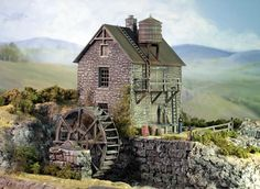 Model Grist Mill | Railway DesignAssociates Injection molded urethane plastic