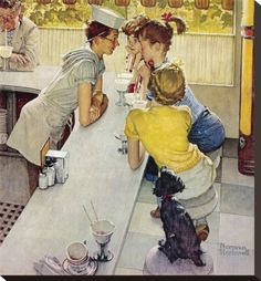 Rockwell (young romance at the ice cream parlor)