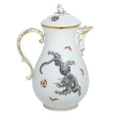Meissen - Ming Dragon Black Gold Rim Coffeepot