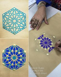 Stunning work as always from the talented group mash& Islamic Art Pattern, Arabic Pattern, Geometry Pattern, Geometry Art, Sacred Geometry, Pattern Art, Motifs Islamiques, Mughal Miniature Paintings, Motif Oriental